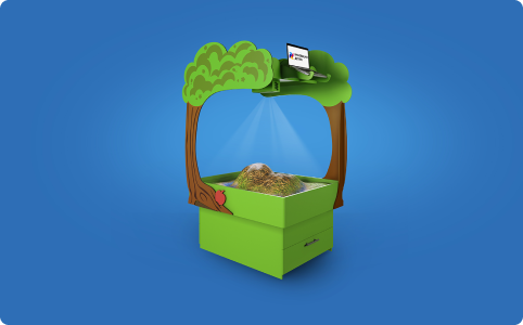 Интерактивная песочница «Полянка»