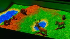 интерактивная песочница и животные