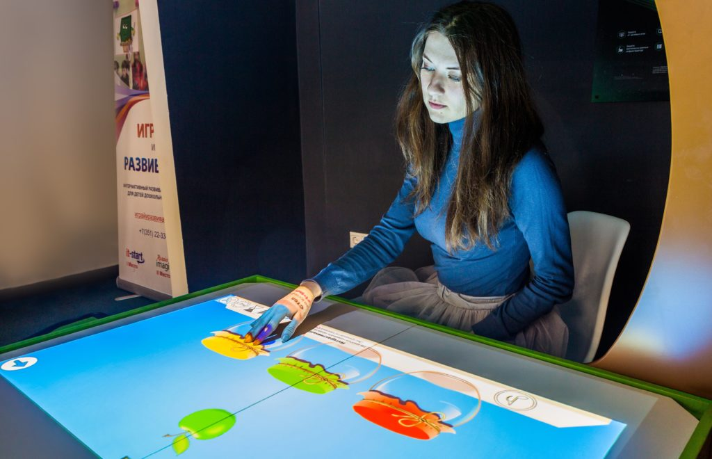 интерактивная песочница сенсорный стол