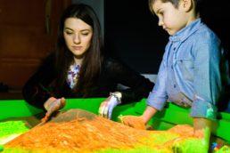 интерактивная песочница строим горы