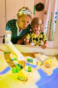 Интерактивная песочница занятие с ребенком