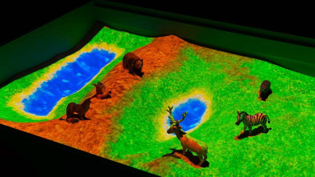 интерактивная песочница занятие с животными