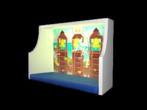 интерактивный скалодром игра пожарник