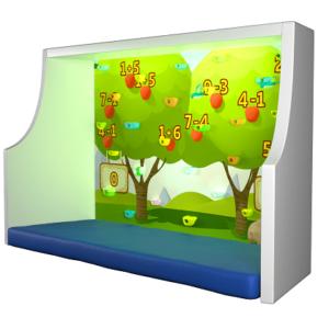 интерактивный скалодром игра собери урожай