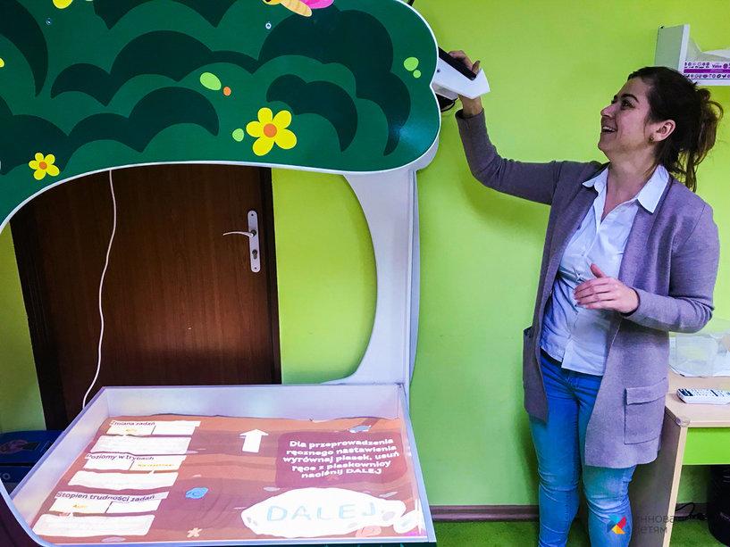 Интерактивная песочница в Польше