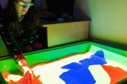 интерактивная песочница для слабовидящих