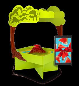 интерактивная песочница Полянка с подарком