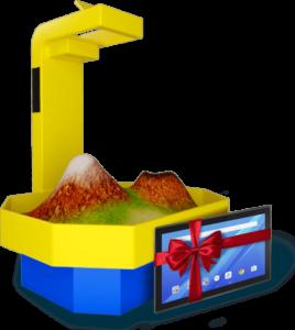 Интерактивная песочница с подарком